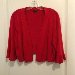 Smart red Bolero sweater